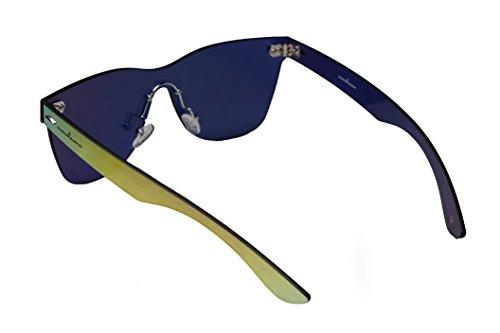 sin Wayfarer marco de rebordes amoloma estilo oro de sin sol las reflejado gafas 5wnggZv