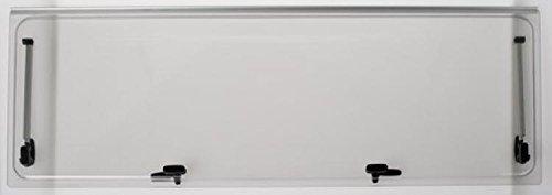 Vetro di ricambio 1168x232 per finestra camper Seitz 1200x300 - colore Grigio - compresi accessori NRF srl