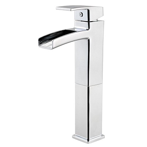 Pfister LG40DF0C Kenzo Single Control Waterfall Vessel Bathroom Faucet in Polished Chrome, Water-Efficient Model - Delta Bathroom Faucets Bidet