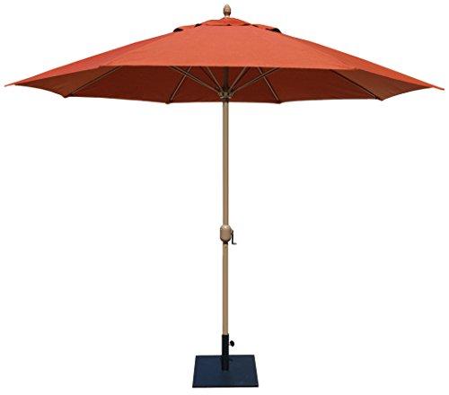 Sunbrella Brick - Tropishade 11' Sunbrella Patio Umbrella with Red Brick Cover