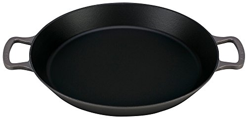 Le Creuset of America Enameled Cast Iron Paella Pan, 3 1/4-Quart, Oyster