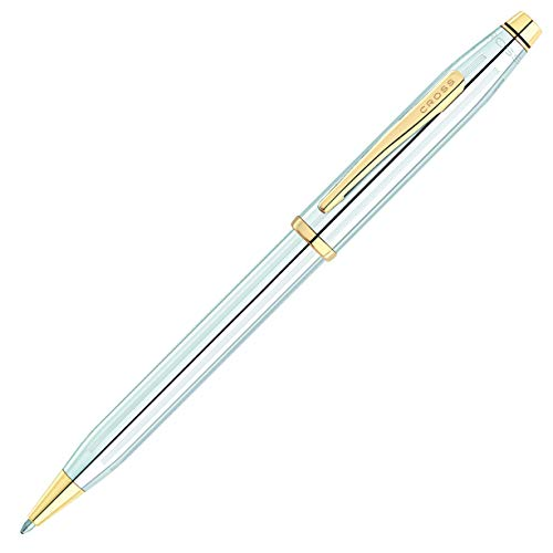 - Cross Century II Medalist Chrome Ballpoint Pen with 23KT Gold-Plated Appointments