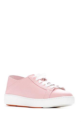 Mujer Zapatillas Piel de Rosa Para Santoni Rosa wqZaTzz