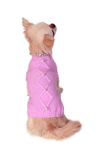 Charlotte's Dress Pet Sweater, Small, Rose by Charlotte's Dress