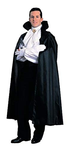 Ovedcray Costume series Long Black Cape with Stand Up Collar ()