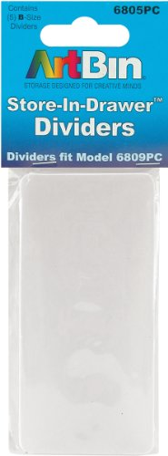 ArtBin Store In Drawer Divider Packs-5 Pack-Fits 6809PC-6805PC by ArtBin