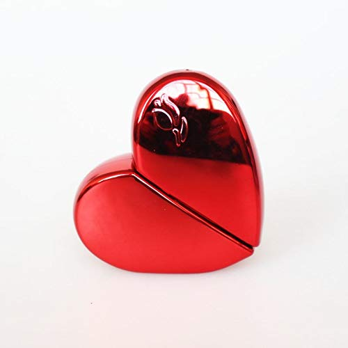 (Glass Spray Bottle 1PC 25ml Heart Shaped Glass Perfume Bottles with Spray Refillable Empty Perfume Atomizer for Women 6COLORS (Red))