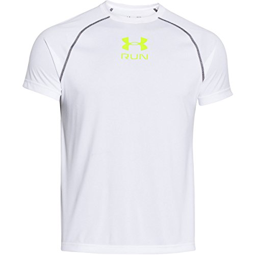 Under Armour Men's UA Tech Run Short Sleeve T-Shirt Large White