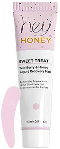 Hey Honey Sweet Treat Wild Berry & Honey Yogurt Recovery Mask Travel Size (Free Facial Spatula Included)