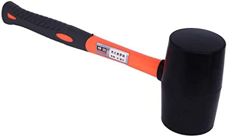 Hochwertige Pflastererhammer Plattenverlegehammer Hartgummihammer bei Pflasterarbeit - 907 g