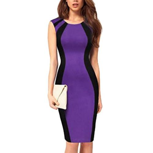Acquaa Women's Sleeveless Color Block Pencil Sheath Work Dress supplier