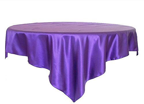 NEW Square Satin Tablecloth Table Covers For Wedding Party Restaurant Banquet Decorations 14pcs/Pack 145cm x 145cm / 57