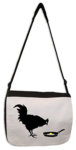 Tribal T-Shirts Banksy Chicken & Egg Laptop Messenger Bag (Chicken Egg Bag)