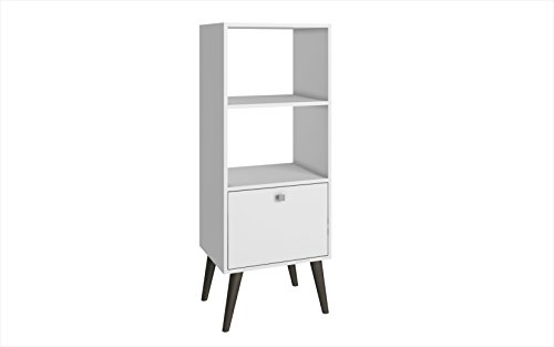 Manhattan Comfort Sami Collection Modern Sophisticated Tall Standing 1 Drawer and 2 Open Shelf Book Case, (Tall Case)