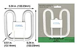Compact Fluorescent Bulbs CF21SQ/835/4P/ECO GR10Q-4 (Case of 5)