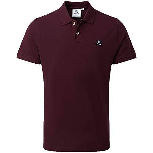 TOG 24 Percy Mens Polo T Shirt in Supersoft Textured Cotton Pique