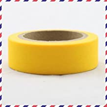 Washi Tape plain yellow 1 roll of adhesive paper tape 10m x 1.5 cm by somi