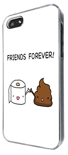 iphone 5 5S Funny Fun Cool friend Forever Toilet Paper&P 140 Design Hülle Case Back Cover Metall und Kunststoff