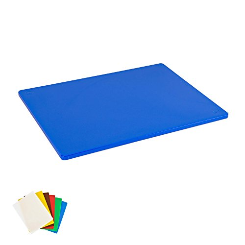 Plastic Cutting Board, Commercial Grade, 12-inch by 18-inch by 1/2-inch, Blue