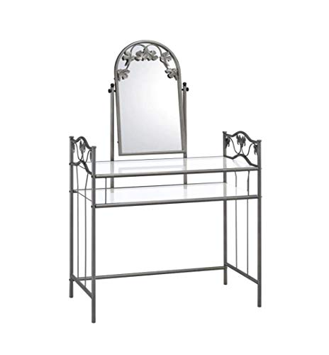 home, kitchen, furniture, bedroom furniture,  vanities, vanity benches 5 picture 2-piece Vanity Set Pewter and Ivory promotion