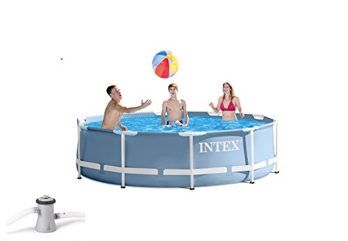Intex 10 Feet x 30 Inches Prism Frame Above Ground Pool with