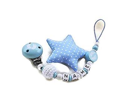 Cadena para chupete Joven * bebé pies/plástico Estrella *: Amazon.es ...