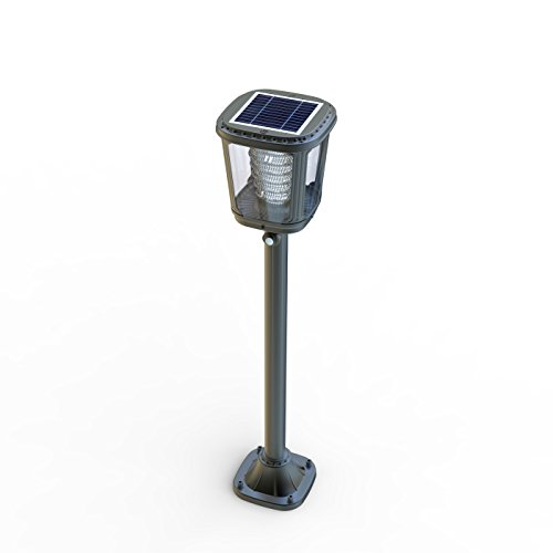 Asklan Solar Led Post Torch Light for Pathway Garden Walkway Driveway Entryway Yard – ALS 2.0 and TCS Technology–Ternary Lithium Ion Technology – Smart PIR Motion Detector – Aluminum Waterproof IP65 by Asklan Solar (Image #1)