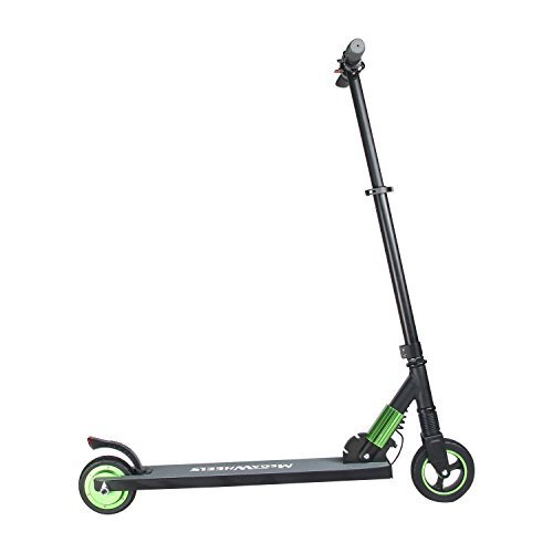 MegaWheels Electric Scooter, Lightweight 18 lbs Folding Scooter Top Speed Up to 14 MPH Max Load 160 lbs for Adult, Teens (Green)