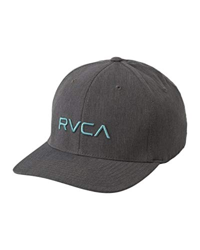 RVCA Men's Flex FIT HAT, Charcoal Heather, L/X (Surfing Baseball Caps)