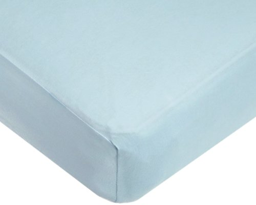 American Baby Company 100% Cotton Jersey Knit Fitted Crib Sheet for Standard Crib and Toddler Mattresses, Blue, for Boys and Girls