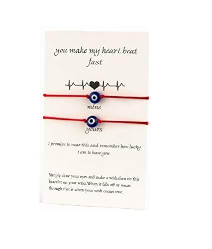 (Evil Eye Adjustable Bracelet Kabbalah String Bracelet/BFF Make a Wish Card Bracelet - Style 4 )