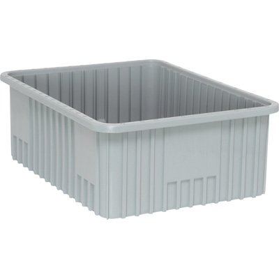 Quantum Storage Systems DG93080GY Dividable Grid Container 22-1/2-Inch Long by 17-1/2-Inch Wide by 8-Inch High, Gray, 3-Pack