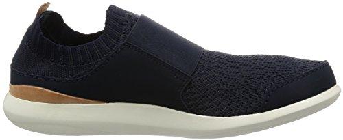 Clarks Casual Hombre Zapatos Pitman Step En Textil Azul