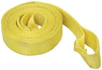 2 Inch X 10 Ft Tow Strap Rope Hooks 6,000lb Towing Recovery Heavy Duty