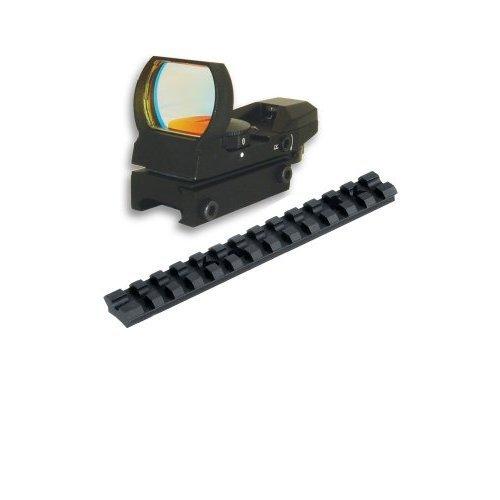 Tactical 20mm Rail Scope Mount And 4 Reticle Reflex Sight Combo Set For Mossberg 12 Gauge 500 590 835 Shotguns