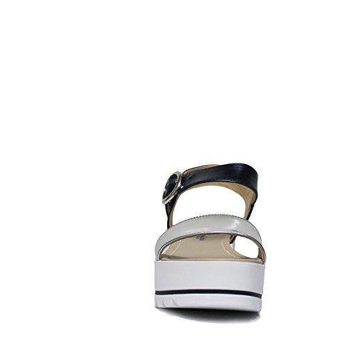 Donna Argento 201 P805870d Nero Sandalo Giardini n80UxgX