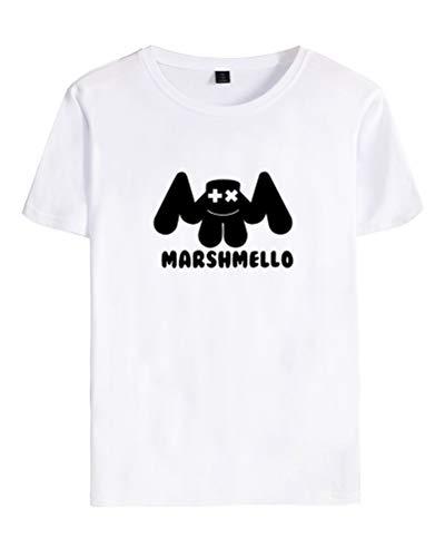 Cool Marshmello Adolescentes Dj Blanco shirt Eléctrico Mujer Para D T Mellogang Unisex Shallgood Top Corta Sonido Camiseta Pareja Hombre Manga Fans UO5Ewq4