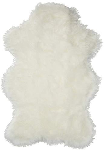 (Walk on Me Classic White Sheepskin/Polar Bear Pelt Shape Rug Faux Fur Rugs From France (2x4, 3x5 & 5x7) (2x4 (actual 28