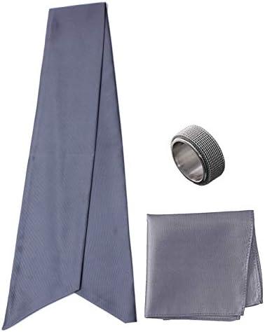 アスコットタイ・ポケットチーフ・タイリング マイクロポリ採用 チーフ メンズ タイリング:No.2 チーフ/タイ(タイプ/カラー):Gray-A