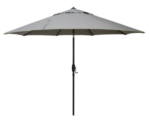 Bayside21 - 9' Sunbrella Tilt Market Umbrella - Taupe by Bayside21