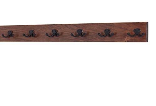 Solid Cherry Wall Mounted Coat Rack - Oil - Cherry Wall Coat Rack