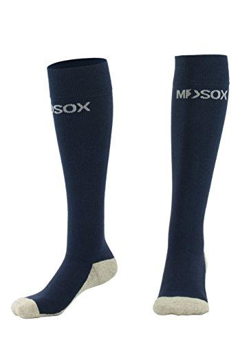 Graduated Compression Socks for Men & Women MDSOX 20-30 mmHg (Navy Blue, XXL) Best Stockings for Nurses, Travel, Running, Maternity Pregnancy, Varicose Veins, Medical, Blood Circulation, Leg Recovery