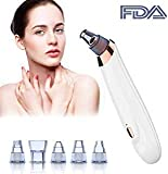Blackhead Remover Pore Vacuum Extractor, 5- in-1 Electric Blackhead Vacuum Suction USB Rechargeable 3 Adjustable Strength Beauty Exfoliators Machine Pore Cleanser for Acne Facial Pore Clean