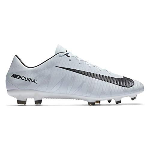 (NIKE Mercurial Veloce III Blue-Tint/Black-White/Tiente Blueue/Noir CR7 FG Mens Soccer Shoes Size 6.5)