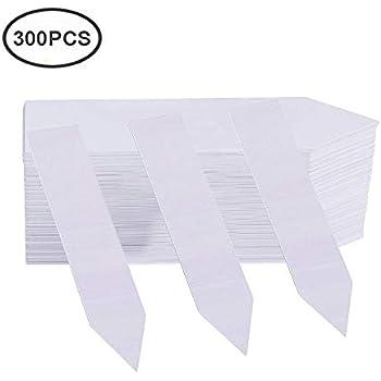 Delatanus Plant Labels 5.19inch T-Shape Plant Markers,White-50pcs