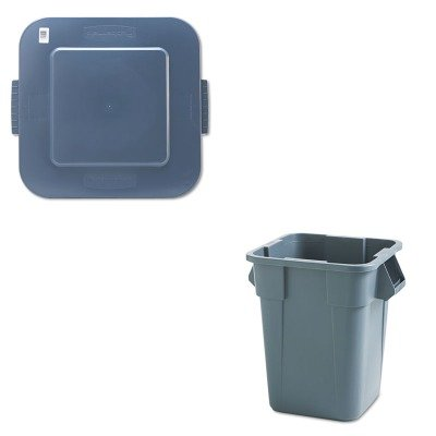 kitrcp353600gyrcp353900gy – Valueキット – rubbermaid-gray Square Bruteコンテナ40ガロン(rcp353600gy) とrubbermaid-gray Square Bruteコンテナ蓋(rcp353900gy) B00MOPHMS2