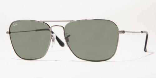 Men's Caravan Rectangular Sunglasses, GUNMETAL, 55 - Caravan Ban Ray 55