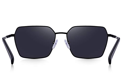 OLIEYE Square Polarized Sunglasses for Men and Women Polygon Mirrored Lens