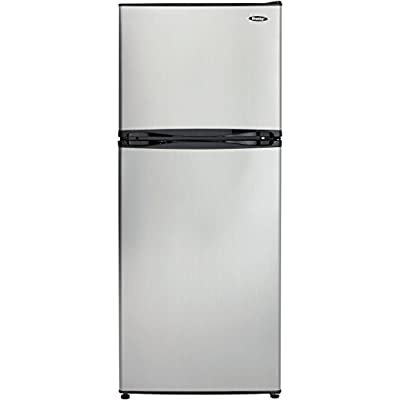 Danby DFF100C1BSLDB Refrigerator with Top-Mount Freezer, 9.9 Cubic Feet, Black/Spotless Steel