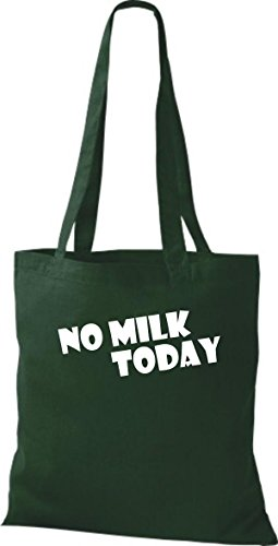 Shirtstown Stoffbeutel lustige Sprüche No Milk Today viele Farben gruen